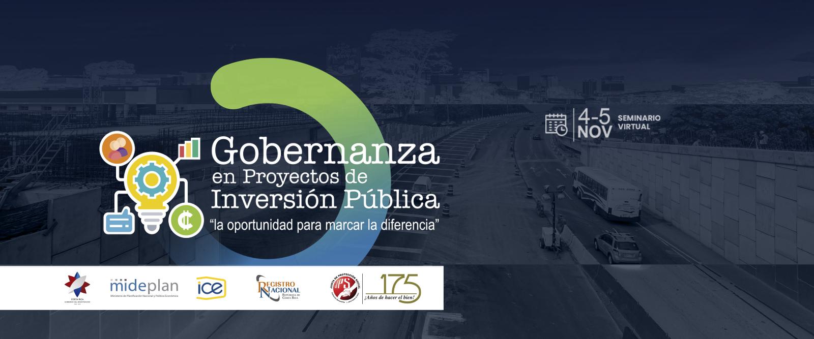 Seminario: Gobernanza en Proyectos de Inversión Pública